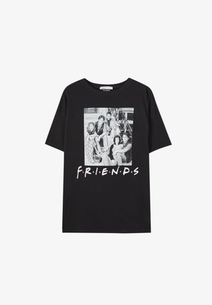 FRIENDS - Printtipaita - mottled black