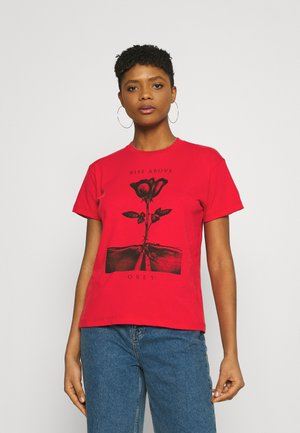 RISE ABOVE ROSE - Print T-shirt - red