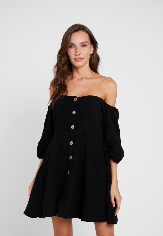 OFF SHOULDER DRESSES - Beach accessory - black