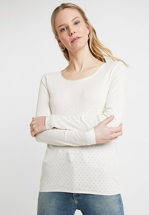 BASIC NEW POINTELLE - Long sleeved top - cloud dancer