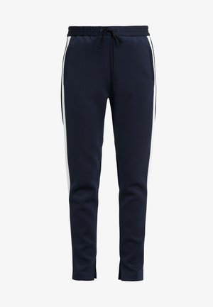 TRACK PANT  SIDE - Tracksuit bottoms - midnight/ivory