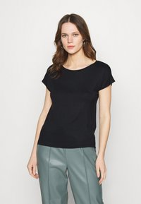 Zign - 2 PACK - T-shirt basic - black/white - 1