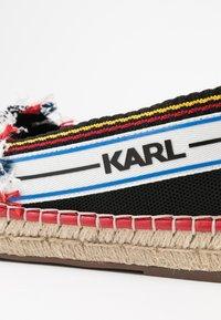 KARL LAGERFELD - KAMINI PATCHWORK SLIP - Espadrilles - black/multicolor - 2