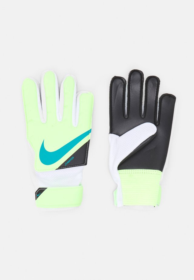GOALKEEPER MATCH UNISEX - Torwarthandschuh - lime glow/white/aquamarine