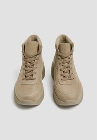 PULL&BEAR - High-top trainers - sand - 4