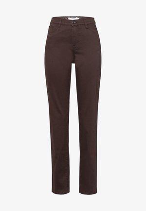 CAROLA - Straight leg jeans - clean brown