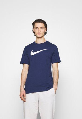 TEE ICON - Print T-shirt - midnight navy/white