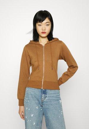 TRIBAL HOTFIX ZIP UP HOODIE - Sweater met rits - brown