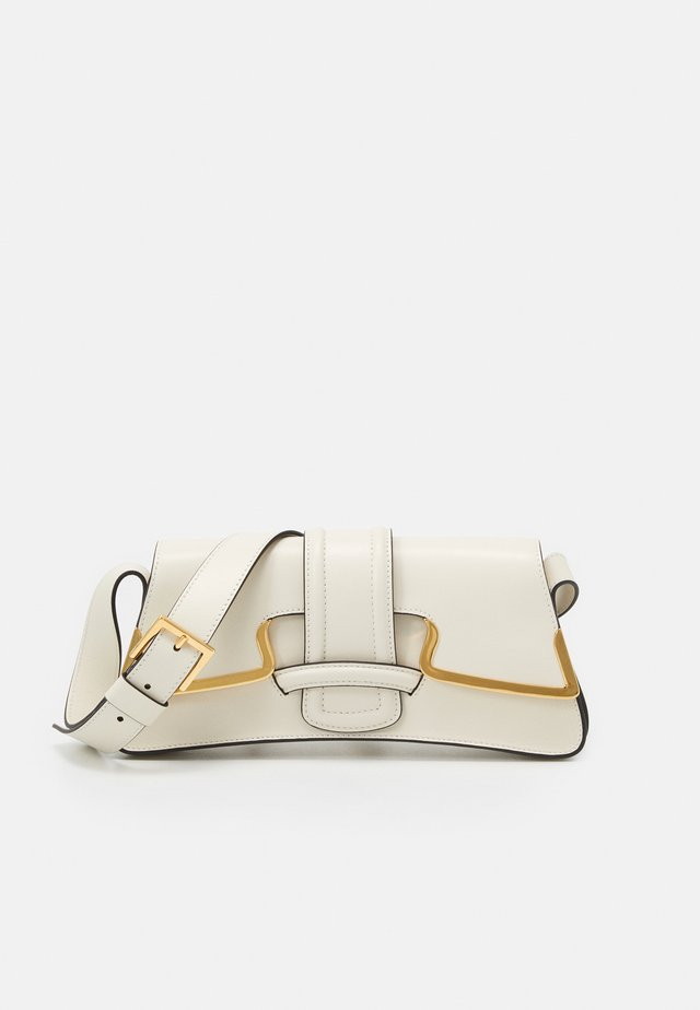 SHOULDER BAG SMALL BUCKLE - Handbag - beige
