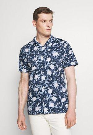 FLORAL CAMO SHIRT - Shirt - dark blue/white