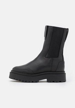 SHOES - Platform ankle boots - black