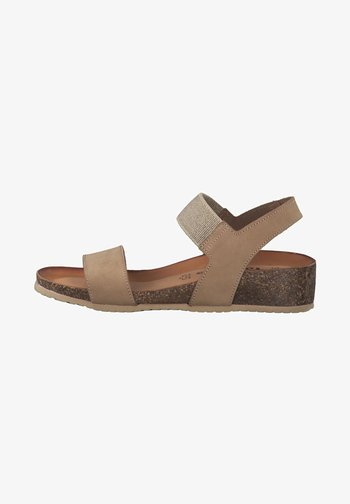 Wedge sandals - nature