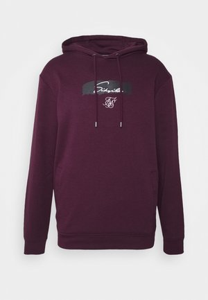 OVERHEAD HOODIE - Long sleeved top - burgundy