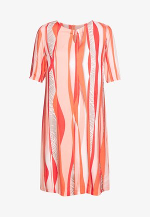 Day dress - coral/ orange/ taupe