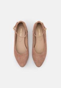 Anna Field - LEATHER - Ballerinat nilkkaremmillä - beige - 5