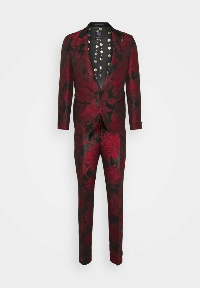 LORRIS SUIT - Oblek - black/red