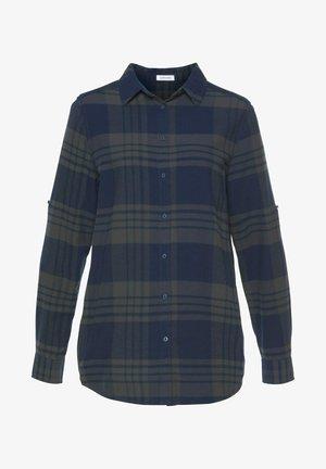 Button-down blouse - blau grau kariert