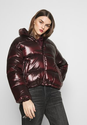 SHINY PUFFER JACKET - Veste d'hiver - maroon