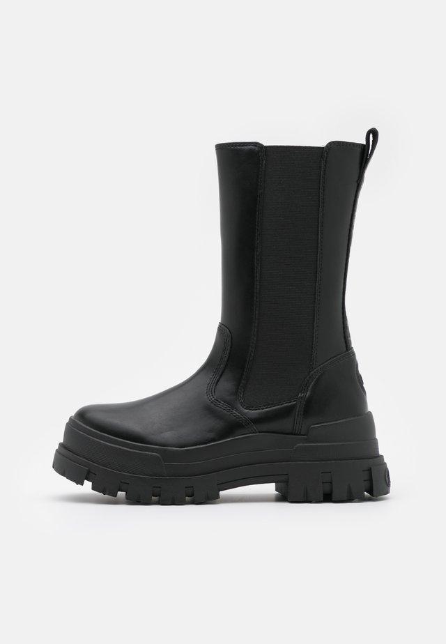 ASPHA  - Platform boots - black