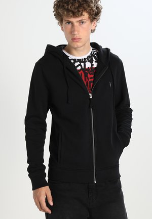 RAVEN - Zip-up hoodie - black