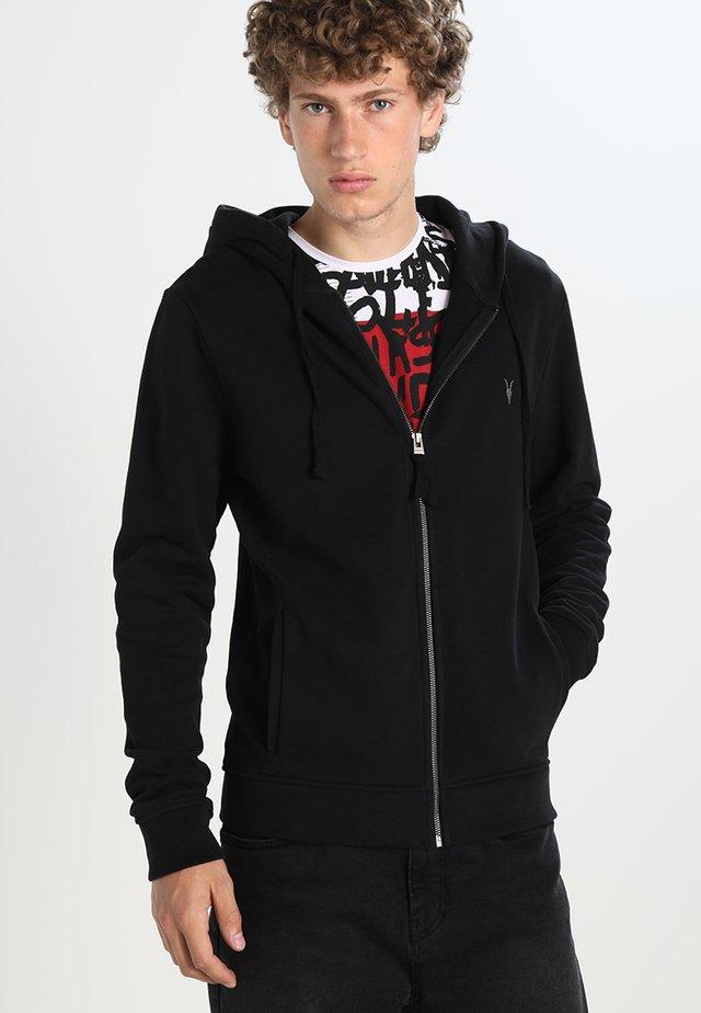 RAVEN - Zip-up hoodie - black