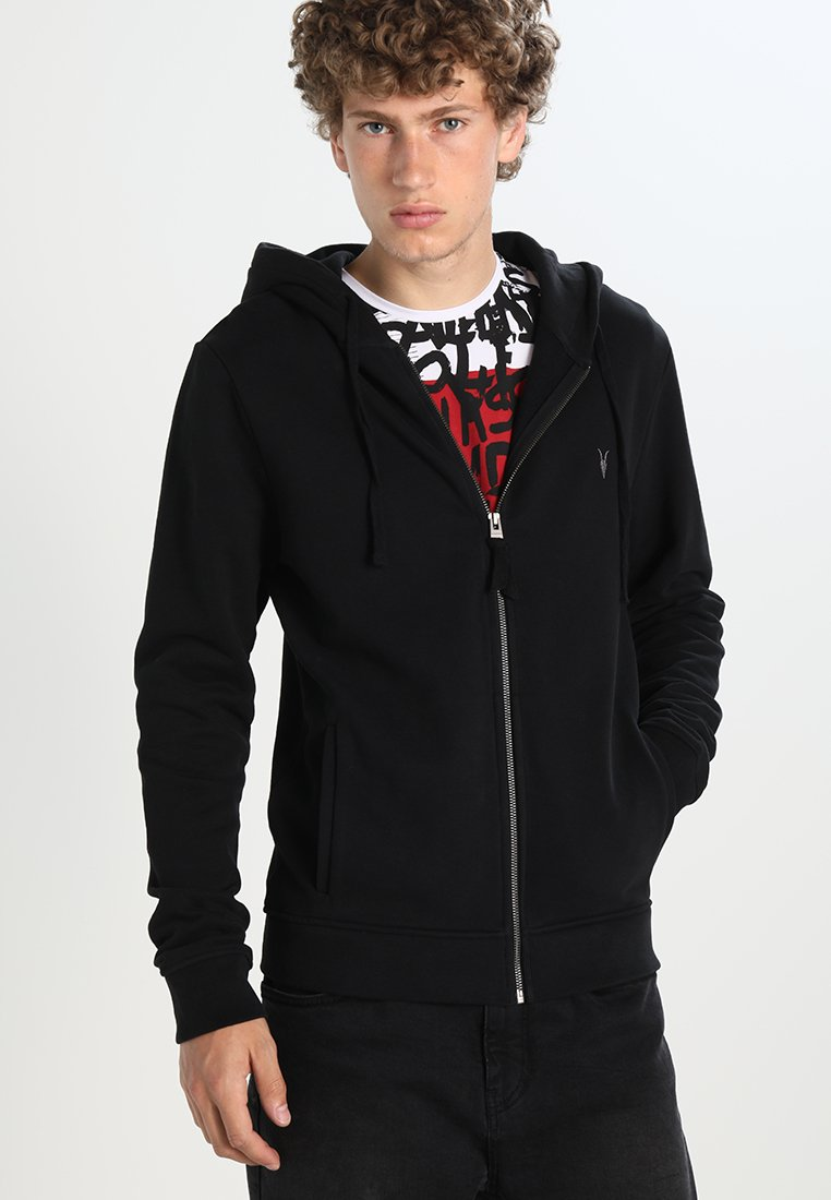 AllSaints - RAVEN - Zip-up hoodie - black
