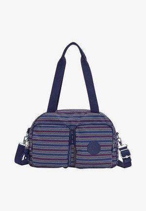 Weekend bag - blue geo print
