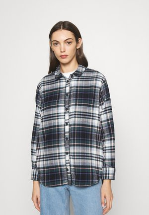 SUNDAY OCTOBER PLAID - Button-down blouse - midnight green