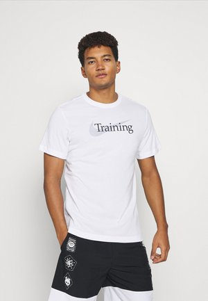 TEE TRAINING - T-shirt med print - white