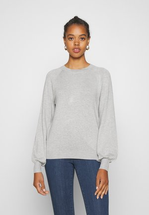 BASIC-BALLOON SLEEVE JUMPER - Jumper - light grey mel