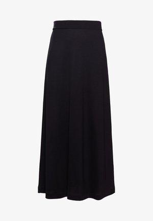 FIT FLARE SKIRT - Maxi sukně - black