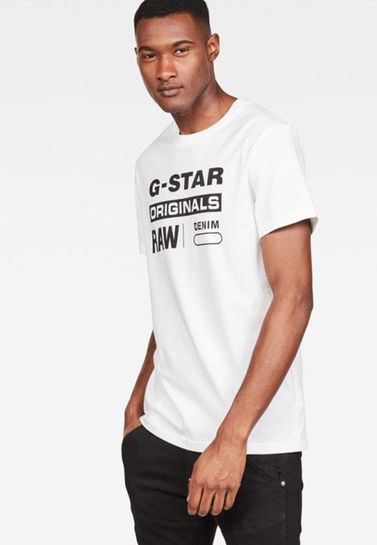 G-Star Graphic Logo - Print T-shirt - white rQ3lV