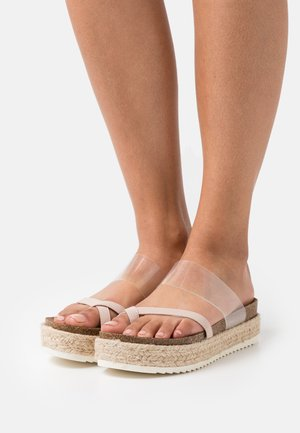 CASE - T-bar sandals - blush