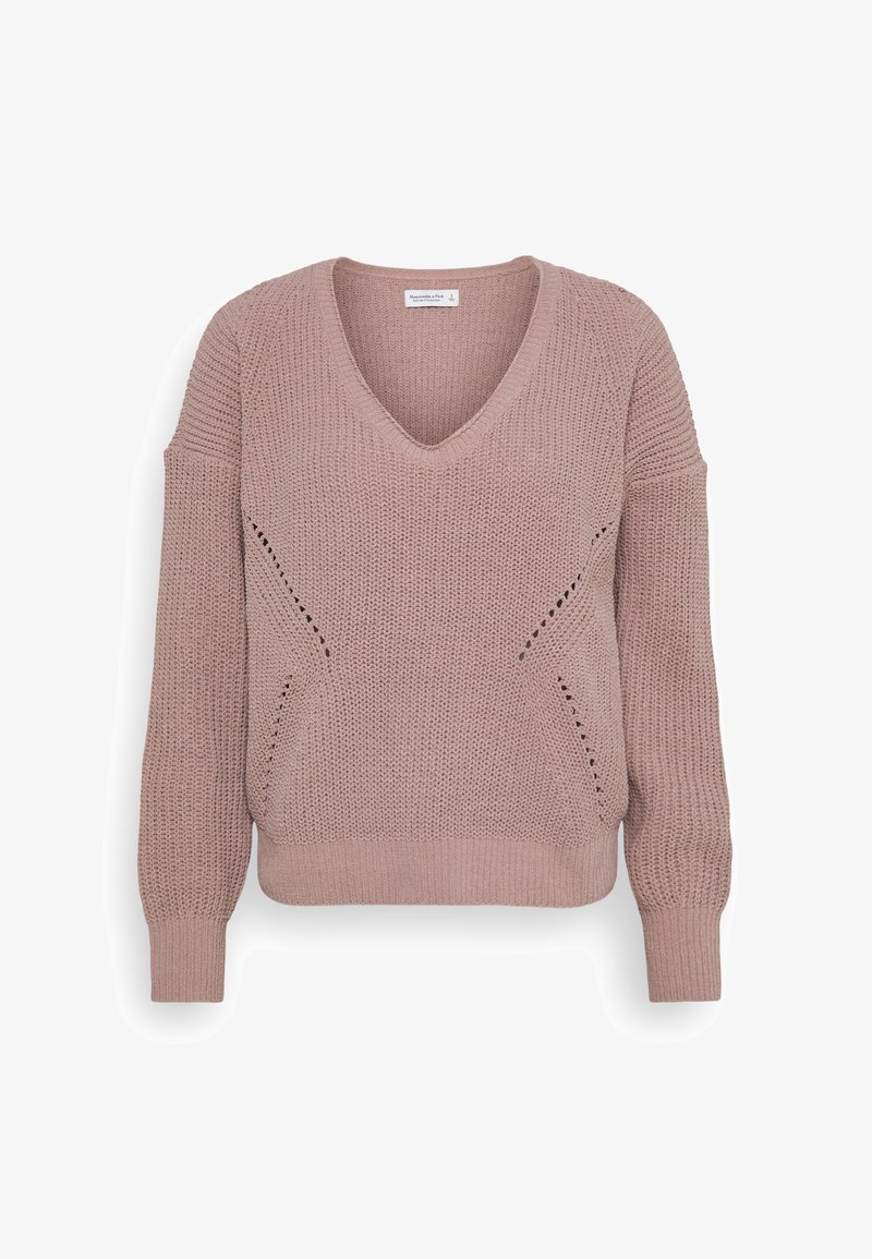 Abercrombie & Fitch - STITCHY - Jumper - pink