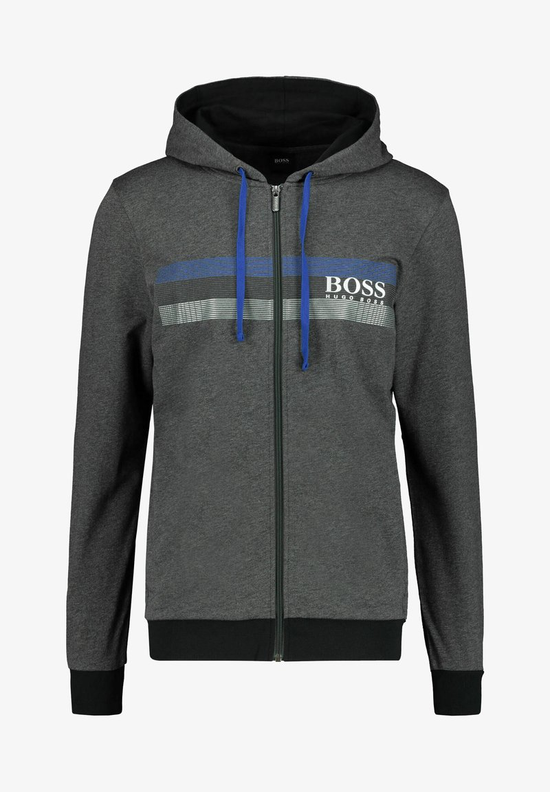 BOSS - AUTHENTIC  - Hoodie met rits - anthrazit
