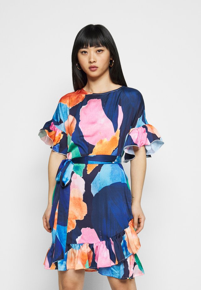 ARTIST PRINT MARAKESH DRESS - Korte jurk - navy multi