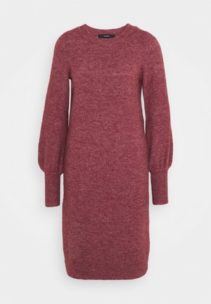 VMSIMONE O NECK DRESS - Jumper dress - cabernet melange