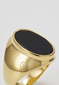 Nialaya - ROUND - Pierścionek - gold-coloured/black - 4
