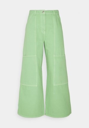GRITTY TWILL WORKWEAR - Džíny Relaxed Fit - bright green