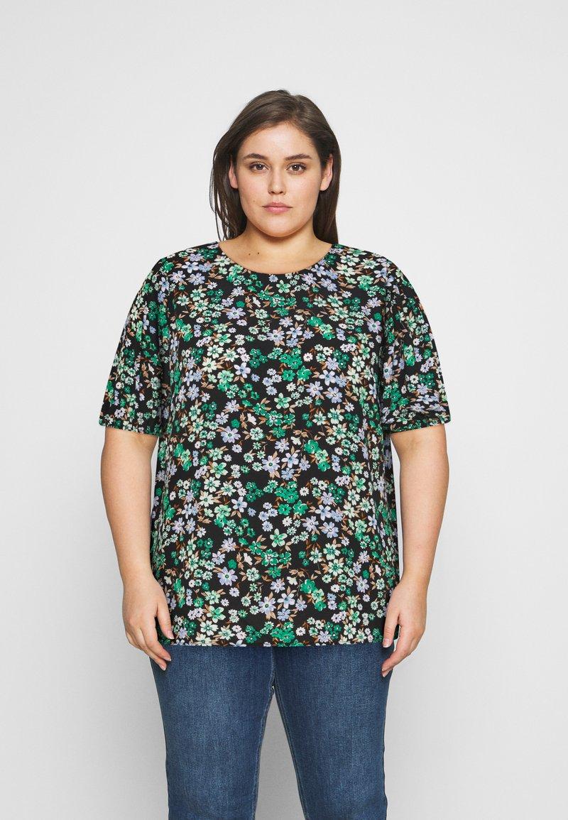 ONLY Carmakoma - CARANEMONY TOP - T-shirts med print - black