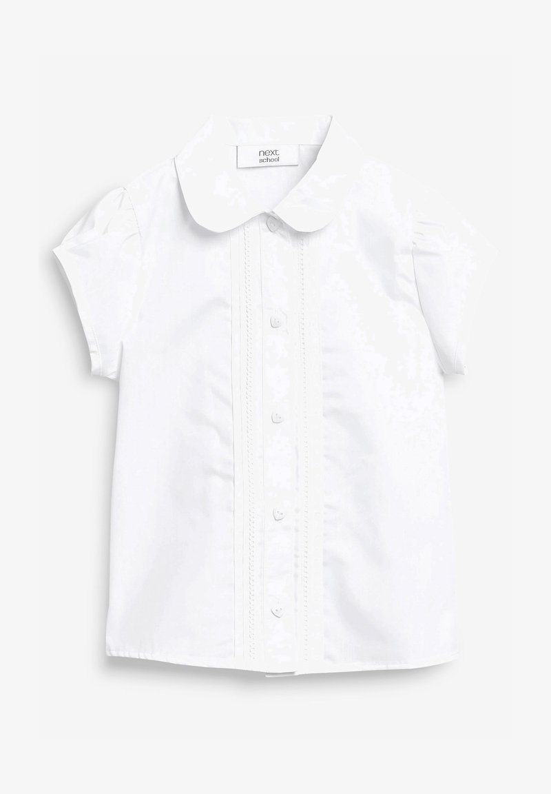 Next - PUFF SLEEVE LACE TRIM - Blouse - white