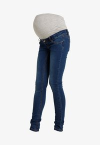 MAMALICIOUS - Slim fit jeans - blue denim - 4