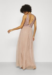 Maya Deluxe - CUT OUT BACK DELICATE SEQUIN MAXI DRESS - Occasion wear - taupe blush - 2