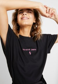 Abrand Jeans - A OVERSIZED VINTAGE TEE - Print T-shirt - faded black - 4