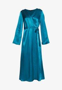 Cortefiel - WRAP LONG DRESS - Iltapuku - medium blue - 4