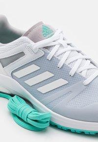 adidas Golf - EQT SPKL - Golf shoes - footwear white/acid mint - 5