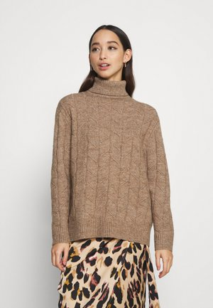 CABLE LONG LINE - Jumper - camel melange