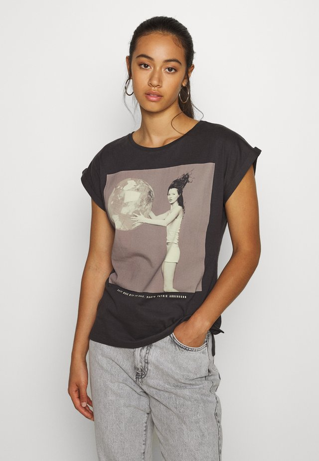 VISBY KATE MOSS - Print T-shirt - charcoal
