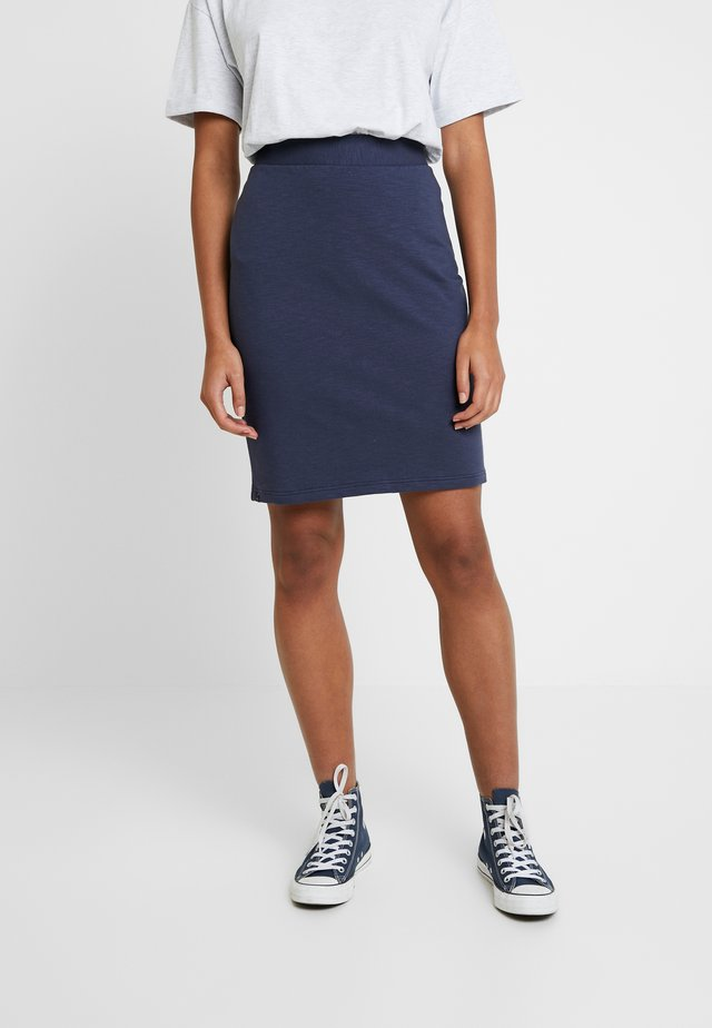 CARINE SLUB SKIRT - Pencil skirt - mood indigo