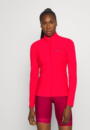 DAMEN THERMO TRIKOT - Fleece jacket - hibiscus pink